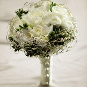 Just White Bridal Bouquet