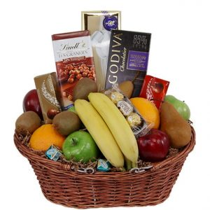 christmas fruit chocolate basket